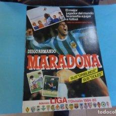 Coleccionismo deportivo: ALBUM MARADONA 1984,VACIO PLANCHA,. Lote 159626026