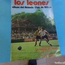Coleccionismo deportivo: ALBUM LOS LEONES 1973, SOLO TIENE 1 CROMO DE IRIBAR, PLANCHA, DE LA GACETA DEL NORTE. Lote 159627078