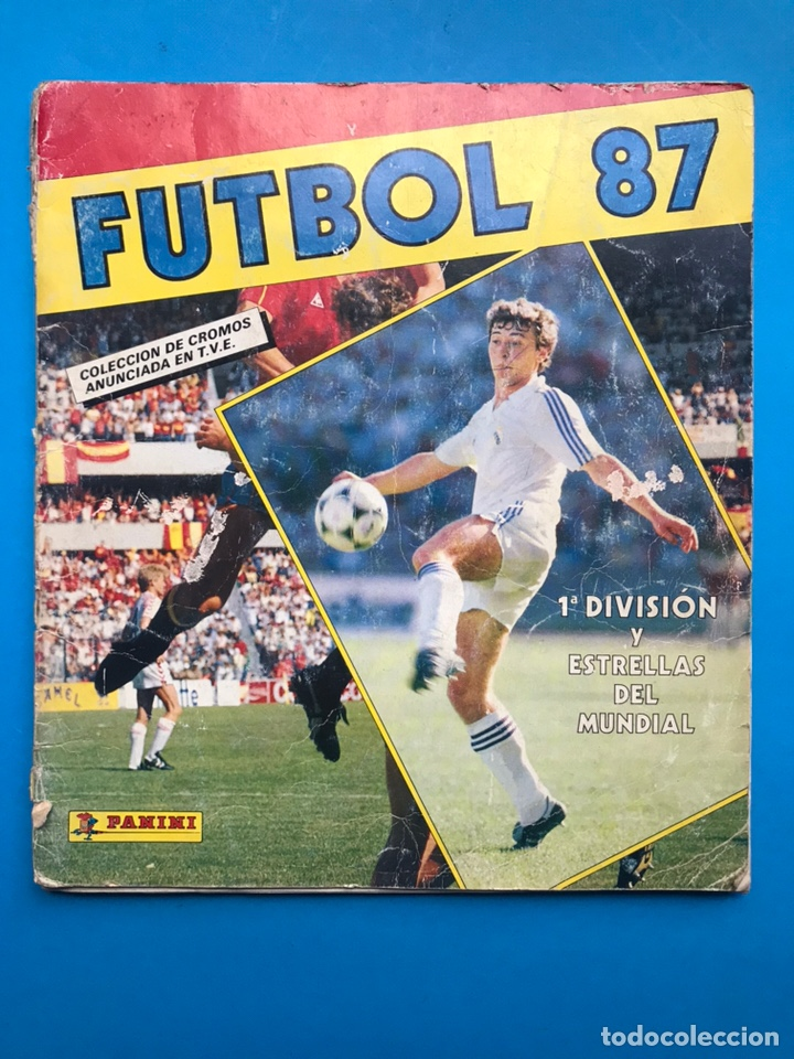 ALBUM CROMOS - FUTBOL 87 - PANINI - VER DESCRIPCION Y FOTOS (Coleccionismo Deportivo - Álbumes y Cromos de Deportes - Álbumes de Fútbol Incompletos)