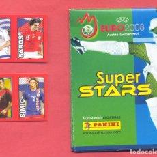 Coleccionismo deportivo: ALBUM UEFA EURO 2008 SUPER STARS PANINI, NUEVO, VACIO, Y DOS CROMOS , VER DESCRIPCION Y FOTOS. Lote 160349882