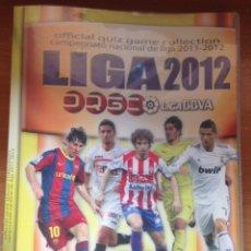 Coleccionismo deportivo: ALBUM ARCHIVADOR FICHAS QUIZ LIGA 2011-2012 LIGA BBVA CON 264 FICHAS DISTINTAS. Lote 160693650