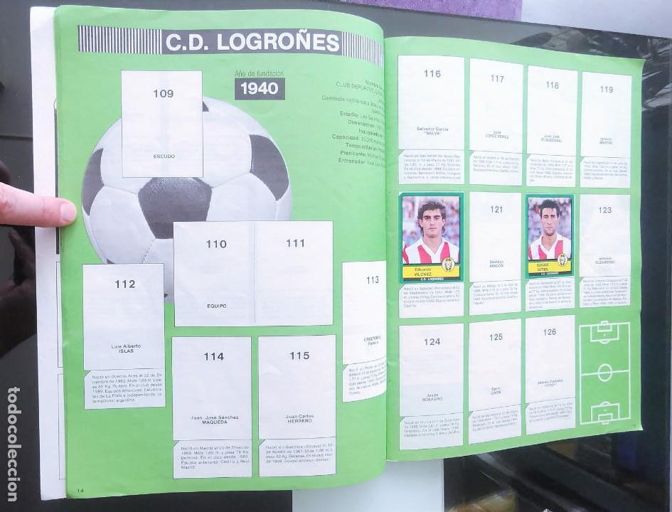 Coleccionismo deportivo: ÁLBUM CROMOS FÚTBOL 1990 PANINI LIGA 90 - Foto 9 - 161571782