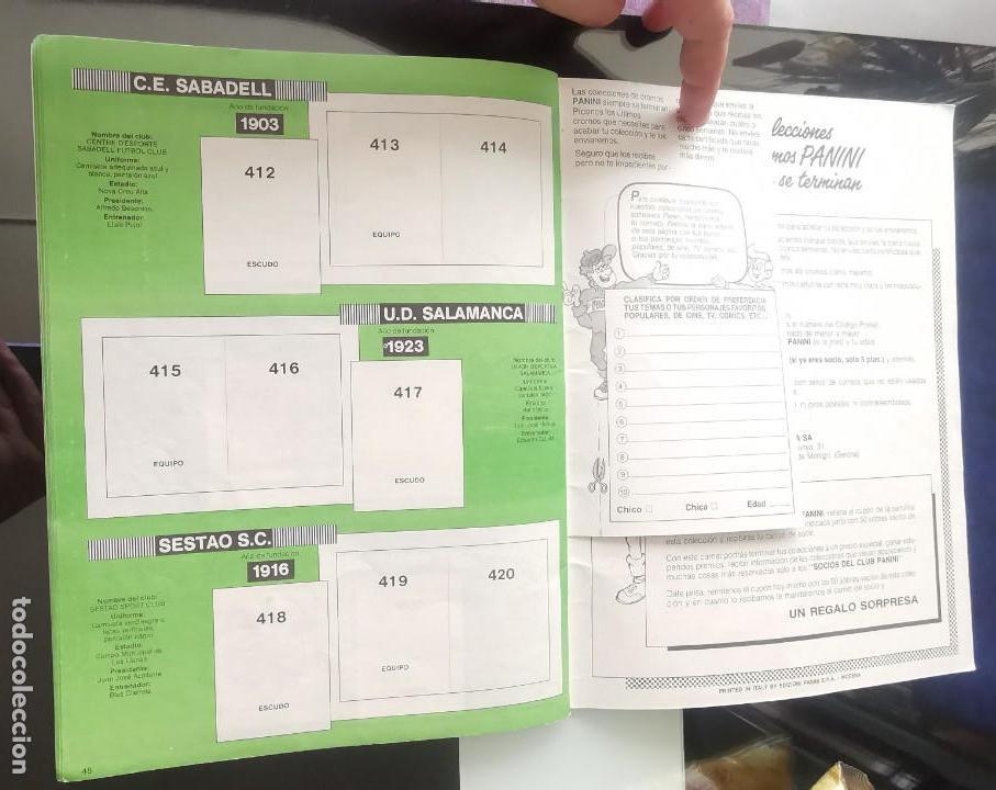 Coleccionismo deportivo: ÁLBUM CROMOS FÚTBOL 1990 PANINI LIGA 90 - Foto 26 - 161571782