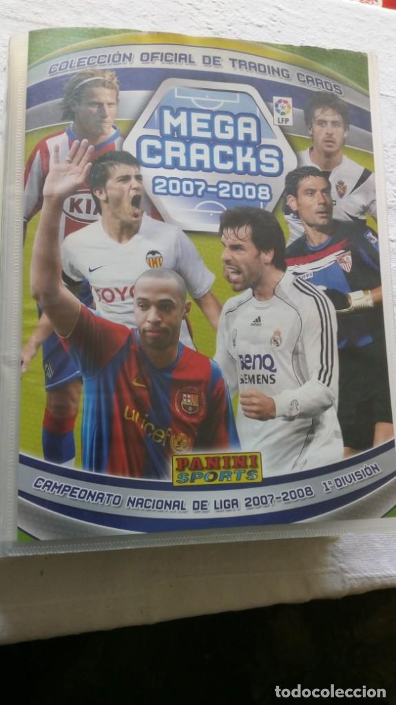 COLECCION OFICIAL PANINI /MEGA CRACKS 2007-2008 /MAS DE 500 CROMOS (Coleccionismo Deportivo - Álbumes y Cromos de Deportes - Álbumes de Fútbol Incompletos)