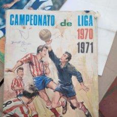 Coleccionismo deportivo: ALBUM FUTBOL *CAMPEONATO DE LIGA 1970 1971* DE DISGRA FHER CON 80 % DE CROMOS. Lote 162495406