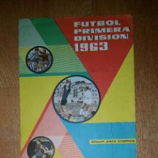 Coleccionismo deportivo: ALBUM FUTBOL PRIMERA DIVISION 1963 DISGRA FHER COMPLETO A FALTA DE 4 CROMOS. Lote 162673466