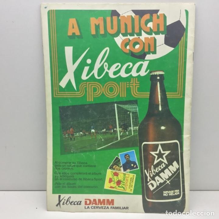 Coleccionismo deportivo: ALBUM DAMM XIBECA SPORT - 1º DIVISIÓN Y SELECCIONES MUNICH - INCOMPLETO - AÑOS 70 - Foto 2 - 162693366
