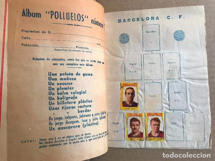 Coleccionismo deportivo: Album de cromos de futbol polluelos 5 con 47 cromos - Foto 3 - 162806098