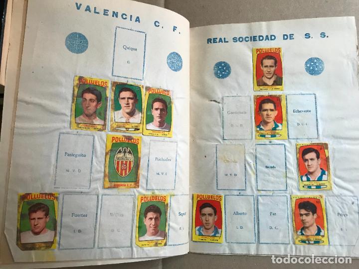 Coleccionismo deportivo: Album de cromos de futbol polluelos 5 con 47 cromos - Foto 4 - 162806098