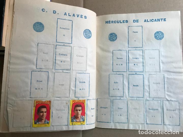 Coleccionismo deportivo: Album de cromos de futbol polluelos 5 con 47 cromos - Foto 6 - 162806098