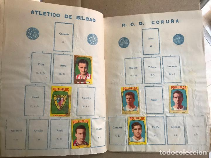 Coleccionismo deportivo: Album de cromos de futbol polluelos 5 con 47 cromos - Foto 8 - 162806098