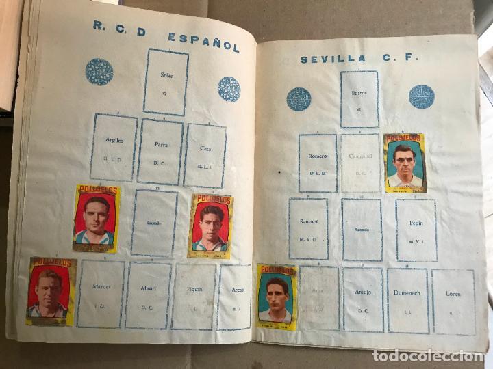 Coleccionismo deportivo: Album de cromos de futbol polluelos 5 con 47 cromos - Foto 9 - 162806098
