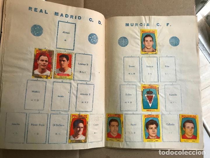 Coleccionismo deportivo: Album de cromos de futbol polluelos 5 con 47 cromos - Foto 10 - 162806098