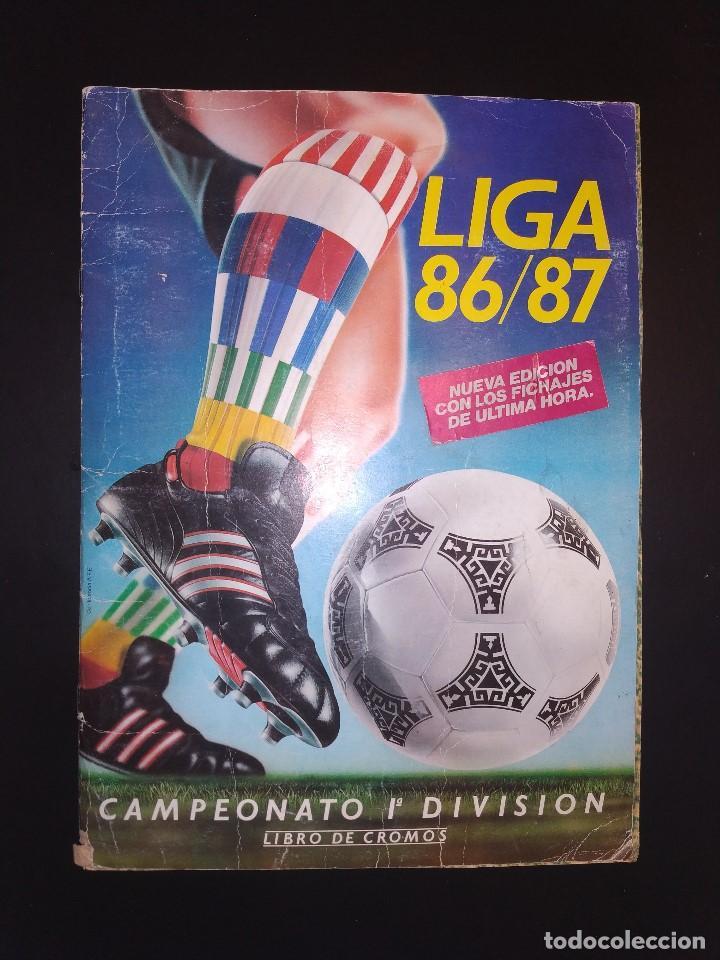 ALBUM LIGA ESTE 1986 1987 - 86-87 CONTIENE 250 CROMOS APROX. (Coleccionismo Deportivo - Álbumes y Cromos de Deportes - Álbumes de Fútbol Incompletos)