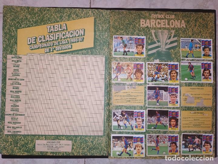 Coleccionismo deportivo: Album Liga Este 1986 1987 - 86-87 Contiene 250 cromos aprox. - Foto 3 - 165132202