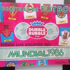 Coleccionismo deportivo: ÁLBUM CROMOS CHICLE FÚTBOL TODOS LOS EQUIPOS MUNDIAL 1986 BUBBLE GUM SOCCER CHEWING GUM. Lote 165133758