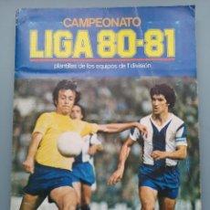 Coleccionismo deportivo: ALBUM EDIC ESTE LIGA 80 81 1980 1981 MUY COMPLETO INCLUYE 10 FICHAJES Y QUINI PINTADO MUY BUENA CONS. Lote 166776594