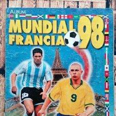 Coleccionismo deportivo: ÁLBUM DE CROMOS DEL MUNDIAL DE FÚTBOL 1998. Lote 166952496