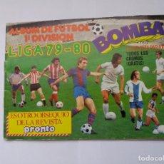 Coleccionismo deportivo: ÁLBUM DE FÚTBOL LIGA 79-80. BOMBA. REVISTA PRONTO. INCOMPLETO.. Lote 167712320
