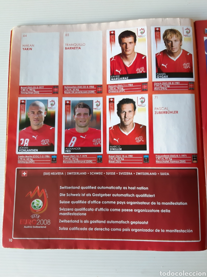 Coleccionismo deportivo: Álbum de cromos Eurocopa 2008 Austria Suiza Panini - Foto 8 - 168484230