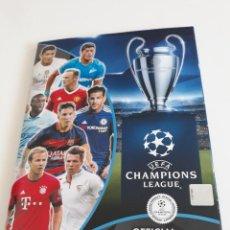 Coleccionismo deportivo: UEFA CHAMPIONS LEAGUE OFFICIAL STICKER COLLECTION SEASON 2015 2016 15 16 - CON 408 CROMOS . Lote 168801420