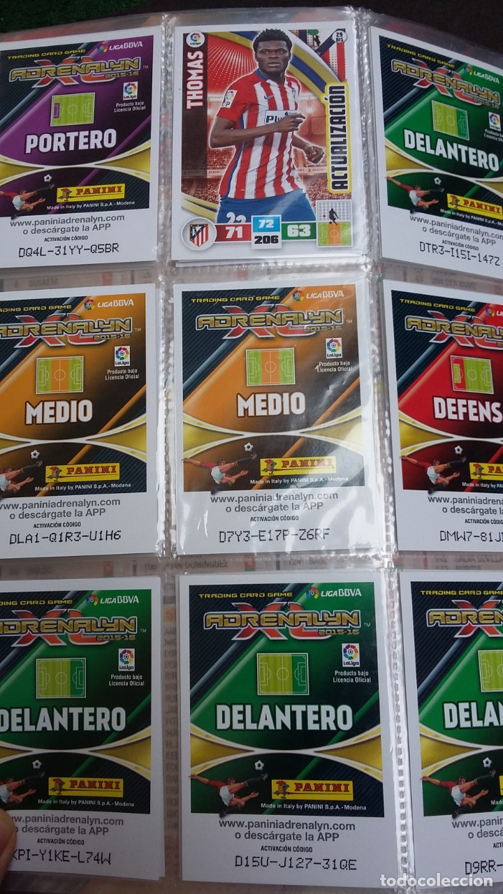 Coleccionismo deportivo: ADRENALYN 2015/2016 15 16 - PANINI - ARCHIVADOR CON 473 CARDS ( INCLUYE SUPERCRACKS, BISES ... ... - Foto 7 - 169185152