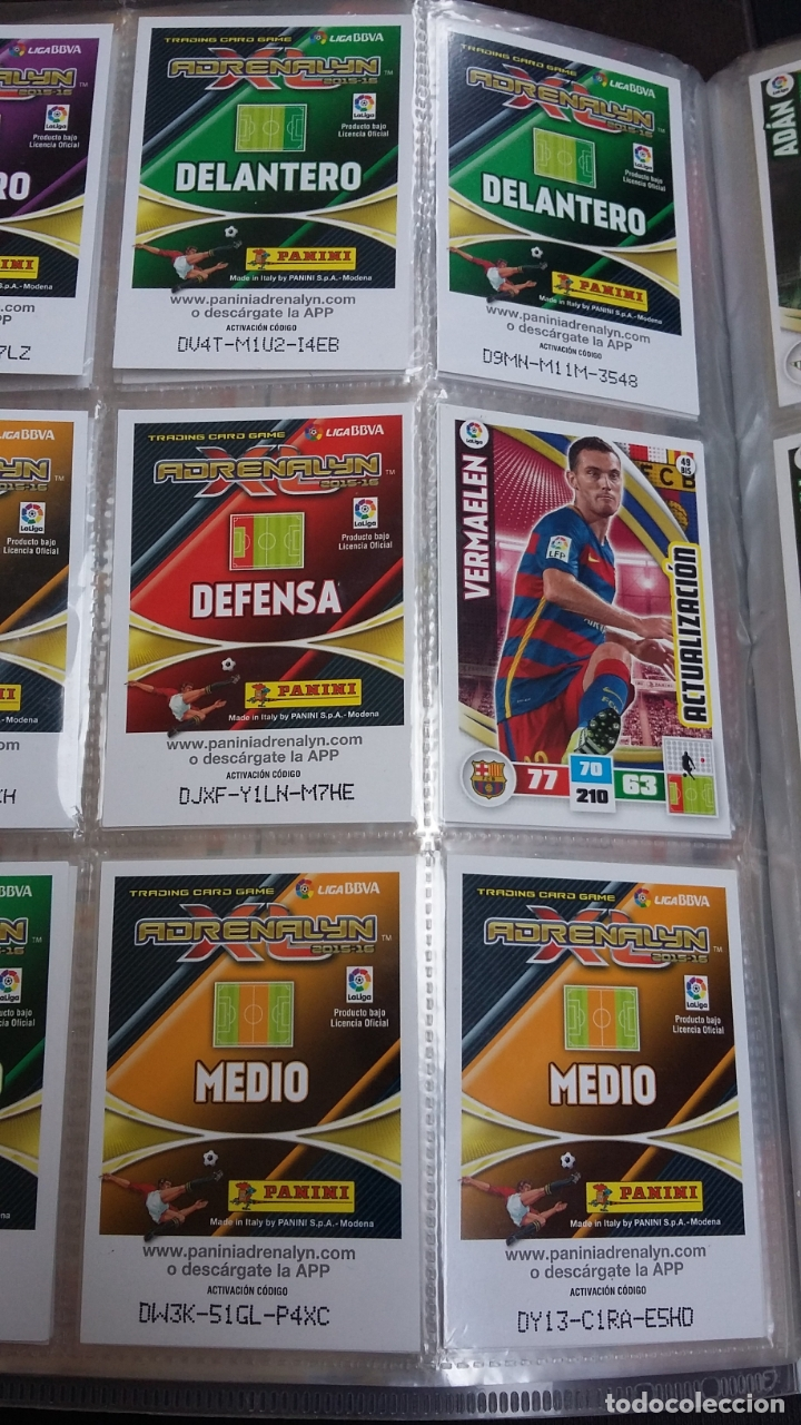 Coleccionismo deportivo: ADRENALYN 2015/2016 15 16 - PANINI - ARCHIVADOR CON 473 CARDS ( INCLUYE SUPERCRACKS, BISES ... ... - Foto 10 - 169185152