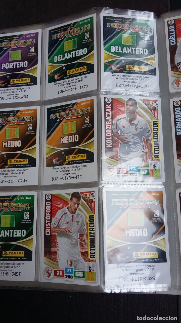 Coleccionismo deportivo: ADRENALYN 2015/2016 15 16 - PANINI - ARCHIVADOR CON 473 CARDS ( INCLUYE SUPERCRACKS, BISES ... ... - Foto 51 - 169185152