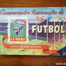 Coleccionismo deportivo: C. D. MÁLAGA - ALBUM RUIZ ROMERO 1951 - CAMPEONATOS NACIONALES DE FUTBOL 50/51 1950/51 CON 19 CROMOS. Lote 169316457