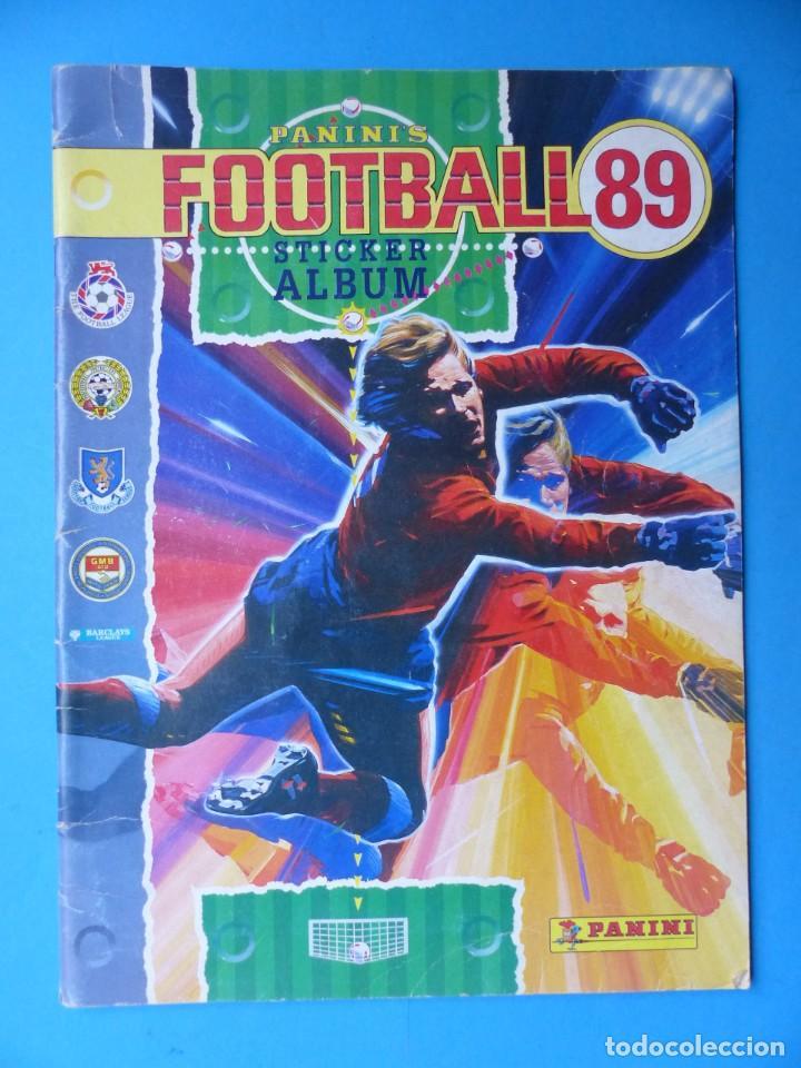 ALBUM CROMOS - FOOTBALL 1989 89, STICKER ALBUM, PANINI - VER DESCRIPCION Y FOTOS (Coleccionismo Deportivo - Álbumes y Cromos de Deportes - Álbumes de Fútbol Incompletos)