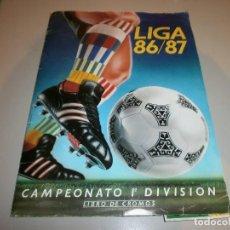 Coleccionismo deportivo: ALBUM EDICIONES ESTE LIGA 86 87 CON CROMOS INTERESANTES. Lote 169899081
