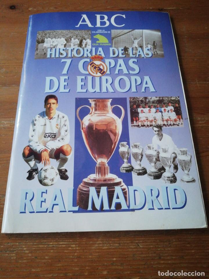 HISTORIA DE LAS 7 COPAS DE EUROPA. REAL MADRID. ABC. FALTAN CROMOS. (Coleccionismo Deportivo - Álbumes y Cromos de Deportes - Álbumes de Fútbol Incompletos)