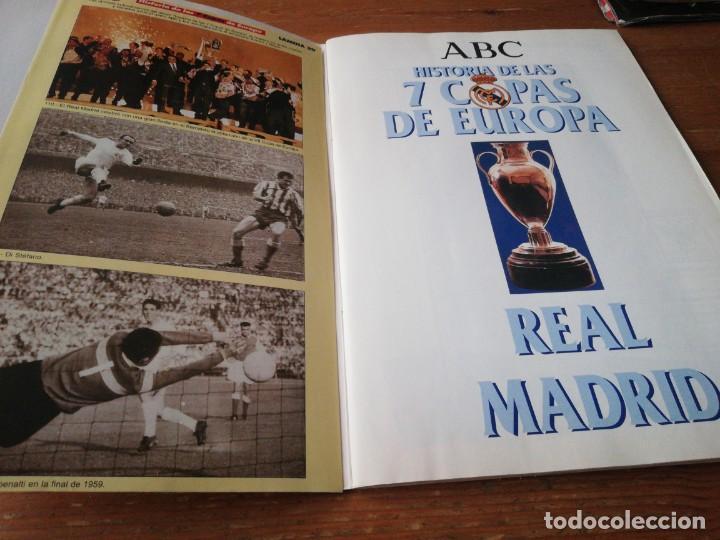 Coleccionismo deportivo: Historia de las 7 Copas de Europa. Real Madrid. ABC. Faltan Cromos. - Foto 3 - 171305012