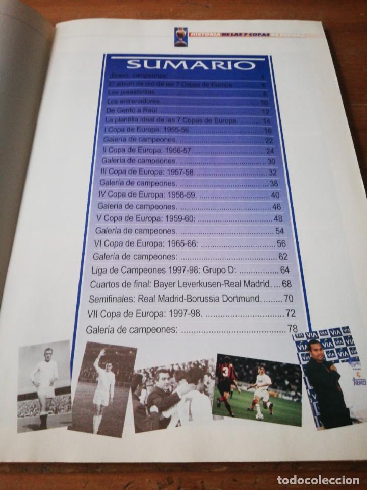 Coleccionismo deportivo: Historia de las 7 Copas de Europa. Real Madrid. ABC. Faltan Cromos. - Foto 4 - 171305012