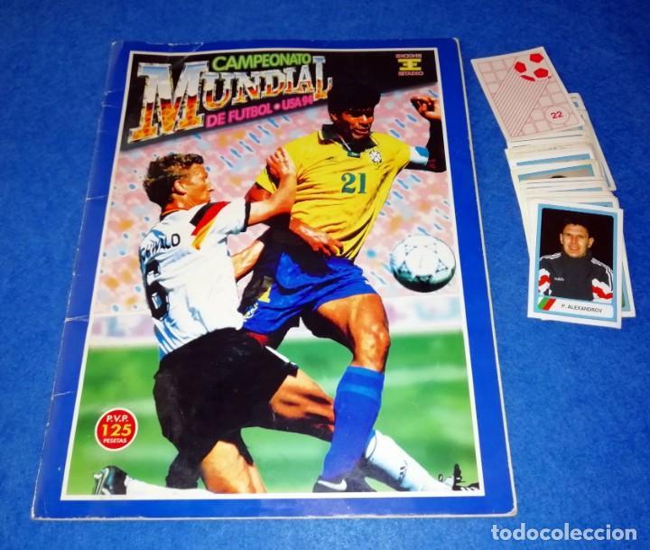 ALBUM DE FUTBOL MUNDIAL USA 94 EDICIONES ESTADIO + CROMOS SUELTOS --- BOX11 (Coleccionismo Deportivo - Álbumes y Cromos de Deportes - Álbumes de Fútbol Incompletos)