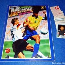 Coleccionismo deportivo: ALBUM DE FUTBOL MUNDIAL USA 94 EDICIONES ESTADIO + CROMOS SUELTOS --- BOX11. Lote 171368574