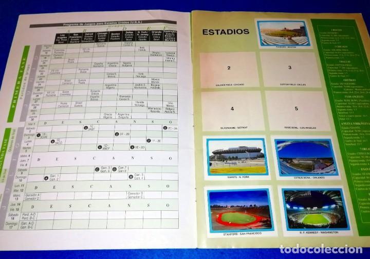 Coleccionismo deportivo: ALBUM DE FUTBOL MUNDIAL USA 94 EDICIONES ESTADIO + CROMOS SUELTOS --- BOX11 - Foto 2 - 171368574