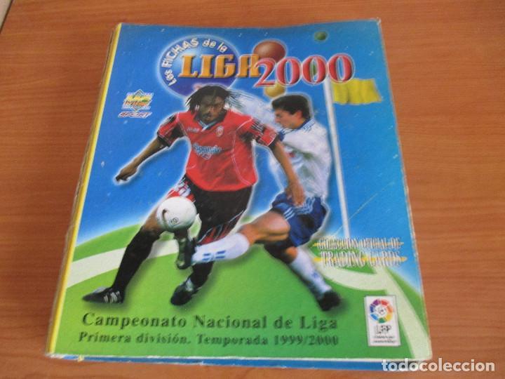 ALBUM LAS FICHAS DE LA LIGA 1999/2000 (CON 405 CROMOS) CAMPEONATO NACIONAL DE LIGA 1ª DIVISION (Coleccionismo Deportivo - Álbumes y Cromos de Deportes - Álbumes de Fútbol Incompletos)