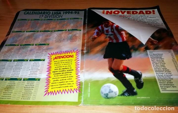 Coleccionismo deportivo: ALBUM EDICIONES ESTE TEMPORADA 1994 1995 --- FOTOS DE TODAS LAS HOJAS --- MUCHOS CROMOS - Foto 2 - 172623235