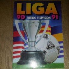 Coleccionismo deportivo: ALBUM VACIO LIGA ESTE 90 / 91 1990 1991 + SOBRE CON CROMOS. Lote 172674055
