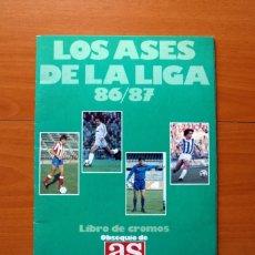 Coleccionismo deportivo: ÁLBUM - LOS ASES DE LA LIGA 86-87, 1986-1987 - DIARIO AS - IMCLOMPLETO CON 8 CROMOS PEGADOS. Lote 172994844