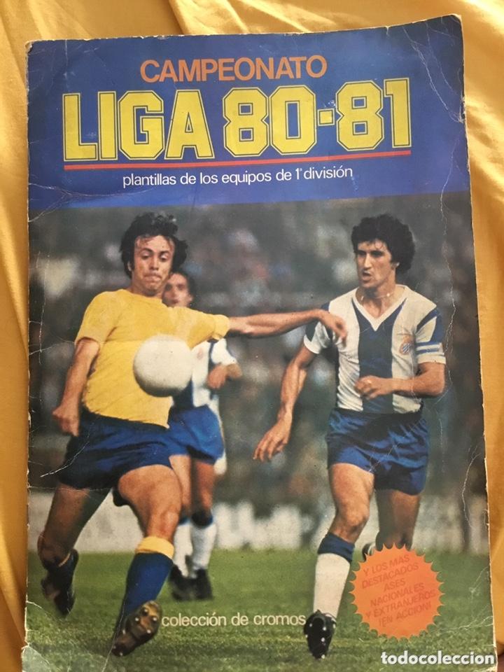 ÁLBUM DE CROMOS LIGA DE FÚTBOL 80 81 INCOMPLETO FALTAN 8 CROMOSÁLBUM ESTE (Coleccionismo Deportivo - Álbumes y Cromos de Deportes - Álbumes de Fútbol Incompletos)