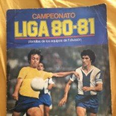 Coleccionismo deportivo: ÁLBUM DE CROMOS LIGA DE FÚTBOL 80 81 INCOMPLETO ÁLBUM ESTE. Lote 173775355