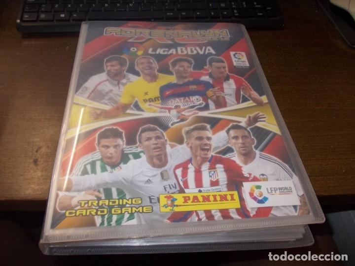 ALBUM ADRENALYN 2015-16 LIGA BBVA, PANINI CON 221 CARTAS (Coleccionismo Deportivo - Álbumes y Cromos de Deportes - Álbumes de Fútbol Incompletos)