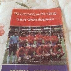 Coleccionismo deportivo: ALBUM SELECCIÓN DE FUTBOL LIGA ESPAÑOLA 83 CROMOS ADHESIVOS. Lote 174004349