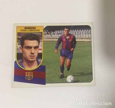 EDICIONES ESTE LIGA 91-92 BAJA HERRERA BARCELONA 1991-1992 CARTON NUNCA PEGADO (Coleccionismo Deportivo - Álbumes y Cromos de Deportes - Álbumes de Fútbol Incompletos)