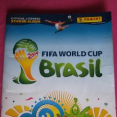 Coleccionismo deportivo: ALBUM MUNDIAL BRASIL 2014 PANINI CON 618 CROMOS DE 639 COMPLETO. Lote 174159004