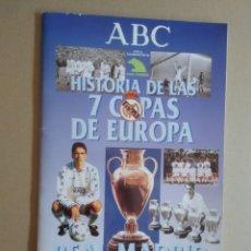 Coleccionismo deportivo: ÁLBUM VACÍO HISTORIA DE LAS 7 COPAS DE EUROPA REAL MADRID, DIARIO ABC. Lote 174332350