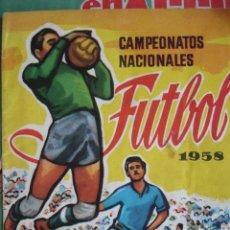 Coleccionismo deportivo: CAMPEONATOS NACIONALES DE FUTBOL 1958 FALTAN 12 BUEN ESTADO. Lote 174355525