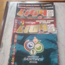 Coleccionismo deportivo: LOTE DE 4 ALBUMES DE FUTBOL. LEER DESCRIPCION.. Lote 175522912